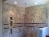 Ceramic Tile with Mosaic Glass Strip Accent