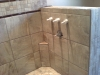 Ceramic Tile Shower with Foot Rest Ledge - Close-up