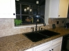 Ceramic Tile Backsplash with Granite Countertop