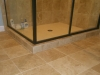Travertine Tile Shower - Lower Shower View