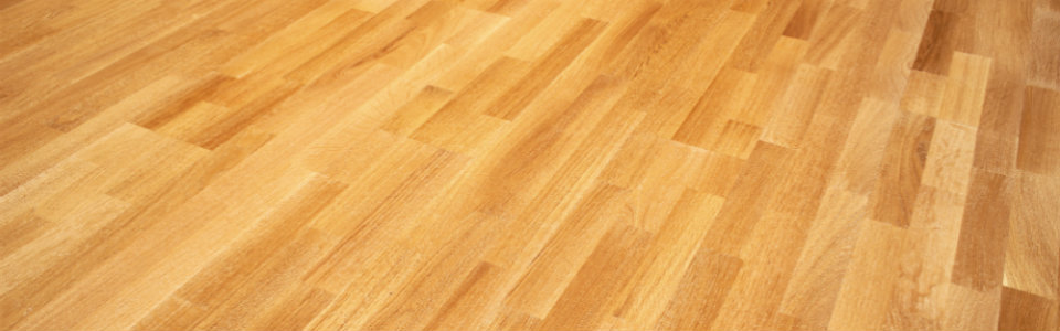 Hardwood flooring in a natural stain color.